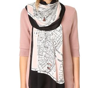Kate Spade nyc map oblong scarf